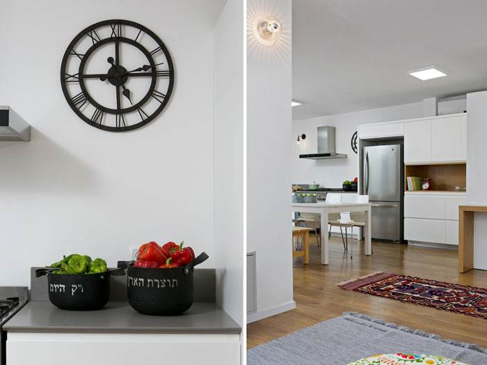 המטבח תוכנן מחדש והורחב לכיוון הסלון | צילום: שירן כרמל