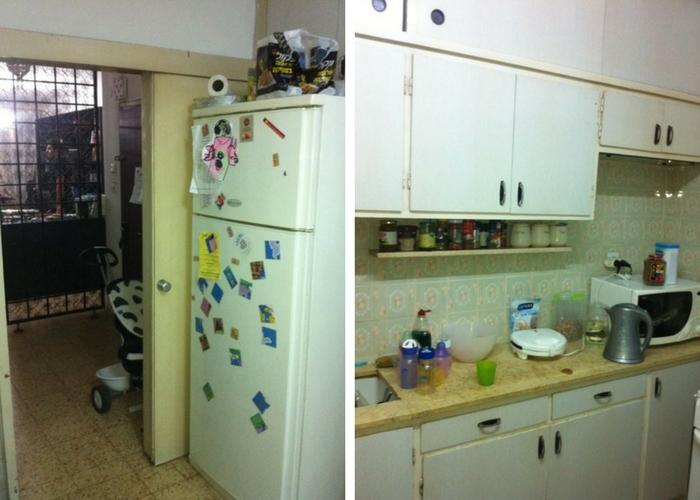 מטבח ומרפסת לפני