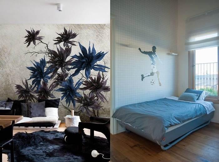 טפטים בכחול לבן; תכנון ועיצוב שירלי דן, צילום גלעד רדט, טפט מדבקה מבית העיצוב שכטר