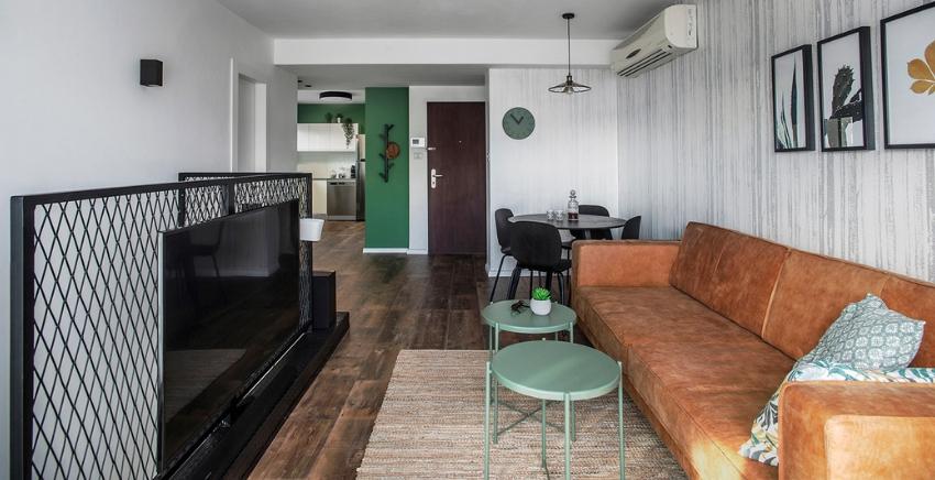 הצצה לדירה קטנה להשכרה לטווח קצר
