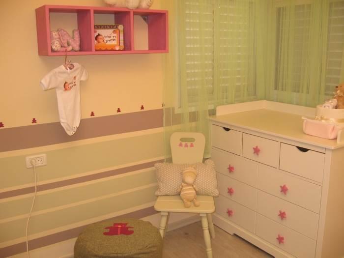 חדר התינוקת החדש לאחר השדרוג, עיצוב והפקה: ליעונה מנקלי