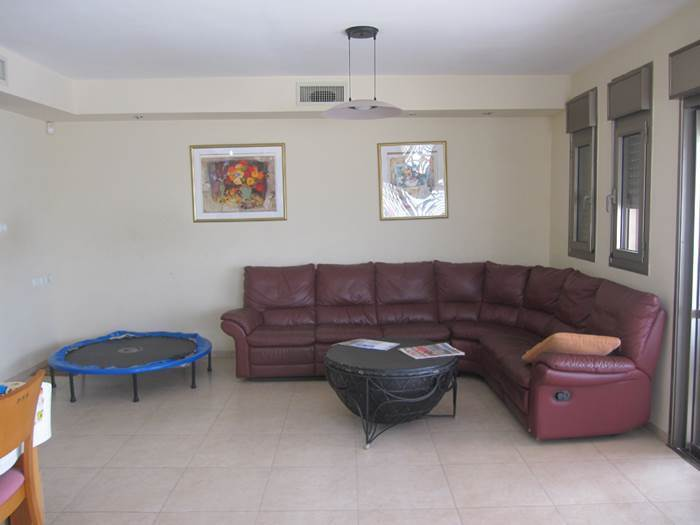 אין קו עיצובי מוגדר אבל טרמפולינה יש. הסלון לפני השדרוג