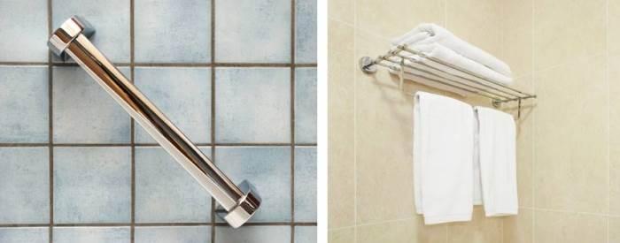האמבטיה היא אחד החללים המועדים הכי הרבה לתאונות בבית ולכן התקנת ידית אחיזה היא חשובה במיוחד. את מתלה המגבות מומלץ להציב מעל האמבטיה בעיקר משיקולי נוחות (צילום: שאטרסטוק)