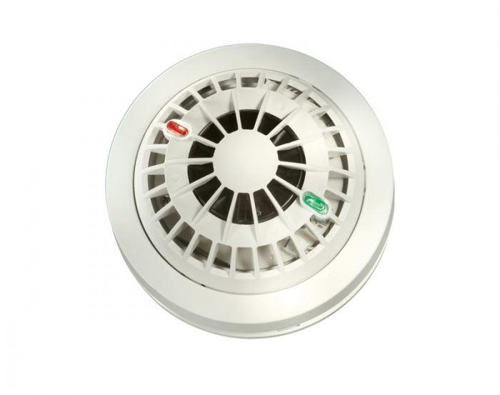 גלאי עשן MCT425 המתחבר למערכת בקרה אלחוטית ומתריע על זיהוי אש ועשן. פועל 24 שעות ביממה (הצילום באדיבות G4S)