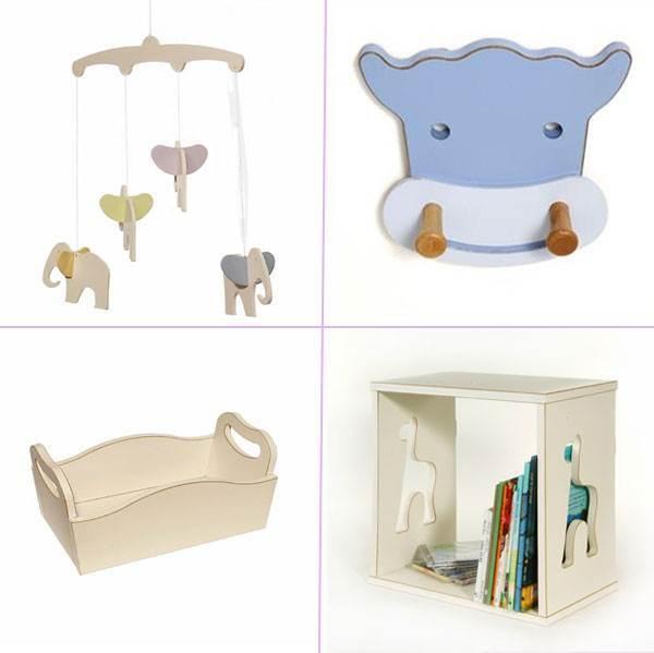 מוצרי עץ שונים יוצרים מראה קלאסי-יוקרתי בחדר התינוק ותורמים לפונקציונאליות החדר. מוצרים של