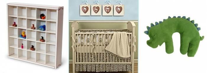 אין גבול לאפשרויות האביזרים המשלימים שישמשו את התינוק גם כשיהפוך לילד. תמונות מעוצבות, כרית רכה וכוורת אחסון לחדר תינוק מבית