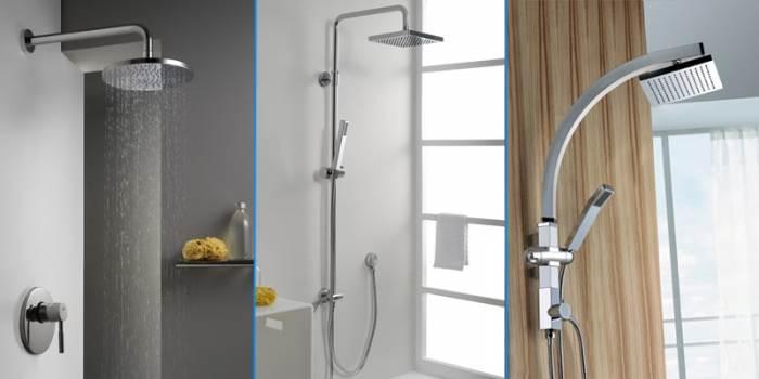 3 סוגי מקלחונים של חמת המוכיחים כי אותו מוצר פשוט לכאורה, יכול לעשות שינוי מהותי בעיצוב חדר אמבטיה (צילום: יח