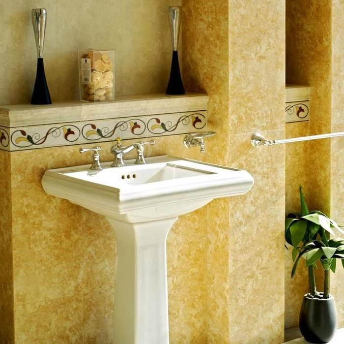 כיור עומד ללא ארון, צביעה בווגה של נירלט במקום קרמיקה- חדר האפשרויות הבלתי מוגבלות באמבטיה שלכם (צילום: יח