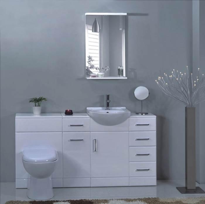 יחידות משולבות של ארון אמבטיה ואסלה בילד אין. להשיג בסטודיו קרמיקה במחירים החל מ-1,600 ש
