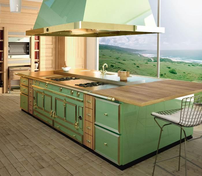 צבע בהיר ישרה בדרך כלל תחושת מרחב בחדר. מטבח כפרי של חברת הייטאצ