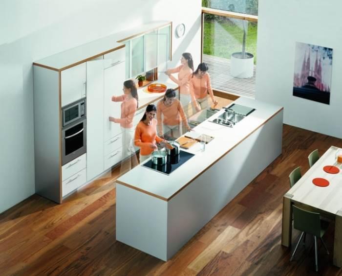 תכנון המטבח לפי איזורים יסייע בשטף עבודה נוח. צילום: בלורן