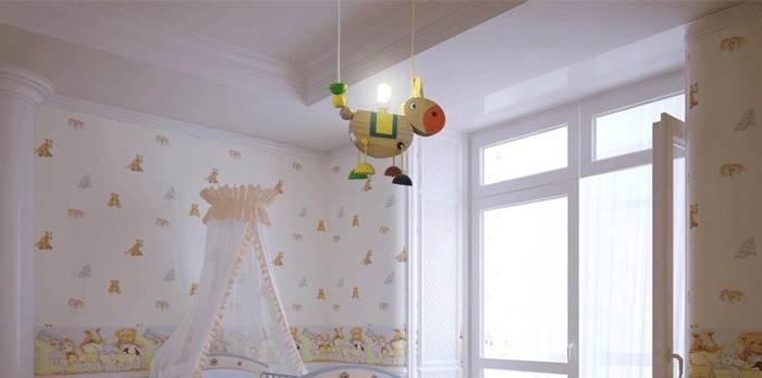לחדר הילדים מומלץ לבחור גוף תאורה משחקי ונעים