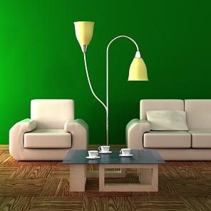 אם יש תקציב קטן, צביעת הבית מאפשרת לקבל תחושה של התחדשות, סלון בצבעי נירלט