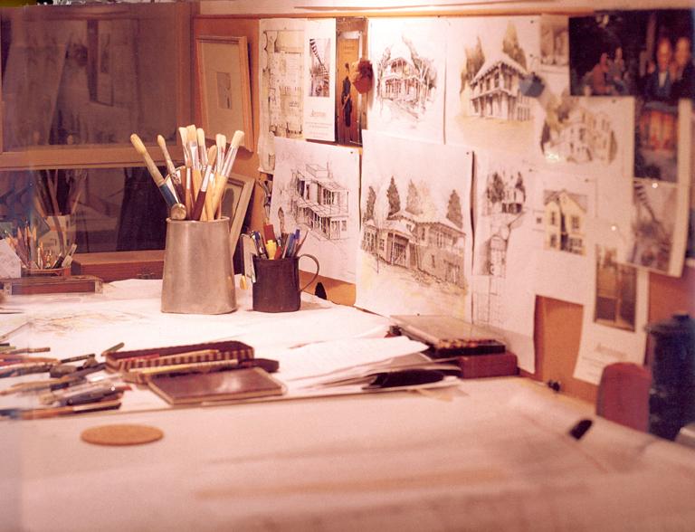 המשרד שלנו - יונתן מונג'ק אדריכלים, צילום שי אדם, מתוך ספרה של אורלי רובינזון - ''יונתן מונג'ק''