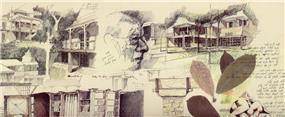 מתוך מחברת הסקיצות- יונתן מונג'ק אדריכלים, מתוך ספרה של אורלי רובינזון ''יונתן מונג'ק''