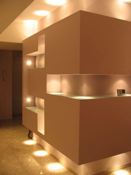 יחידת גבס עם תאורה היקפית ופנימית, עיצוב סיגל נייגרציק אבירם