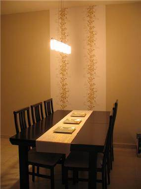 פינת אוכל בסגנון יפני, עיצוב סיגל נייגרציק אבירם