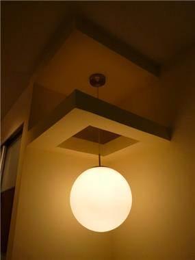 פרט תאורה בחלל מבואה, עיצוב סיגל נייגרציק אבירם