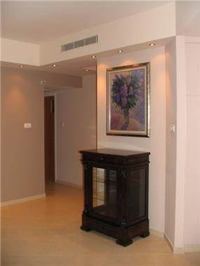 רהיט קלאסי עם תמונה ותאורה מעל, עיצוב סיגל נייגרציק אבירם