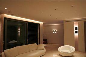 סלון, אזורי חן - איילון גביש - עיצוב ותכנון תאורה אדריכלית