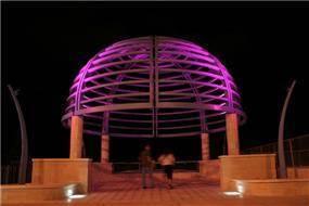 הארת מצפור סטלה מאריס - איילון גביש - עיצוב ותכנון תאורה אדריכלית