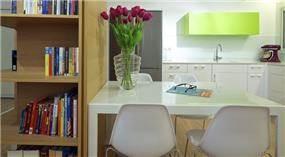 ספרייה מאלון בחלל המטבח ,עיצוב ניצן הורוביץ
