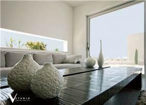 חלל מגורים בסגנון מודרני, תכנון גיא וליקסון ודודי עזוז
