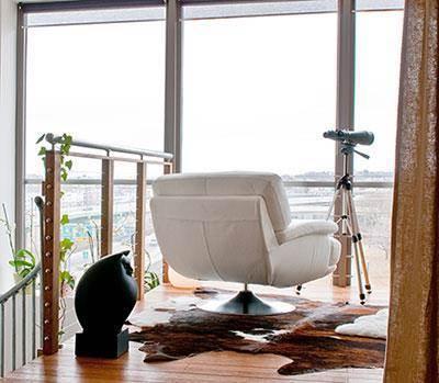 חדר שינה עם תצפית ישירה לים, עיצוב תמי שטרסברג
