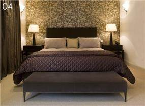 חדר שינה בעיצובה של תמי שטרסברג