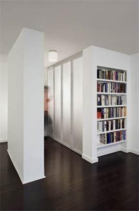 מבואה לפני כניסה מנוצלת לאחסון ספרים