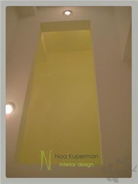 נועה קופרמן עיצוב- תקרה של חדר השרותים