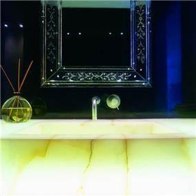 אילן פיבקו אדריכלים -   בית פרטי בהרצליה פיתוח – חדר רחצה, צילום: יעל פינקוס