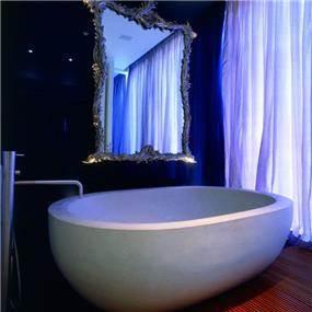 אילן פיבקו אדריכלים -   בית פרטי בהרצליה פיתוח - אמבטיה, צילום: יעל פינקוס