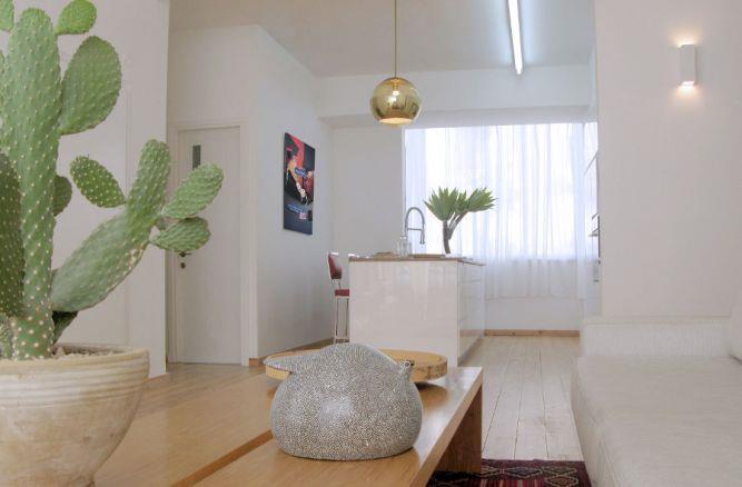 סלון דירה בתל אביב עיצוב הנקין שביט