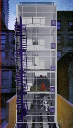 חזית אחורית בניין