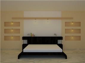 חדר שינה בקוים נקיים