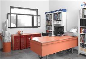 חדר עבודה מעוצב, נורית אמויאל - מעצבת פנים