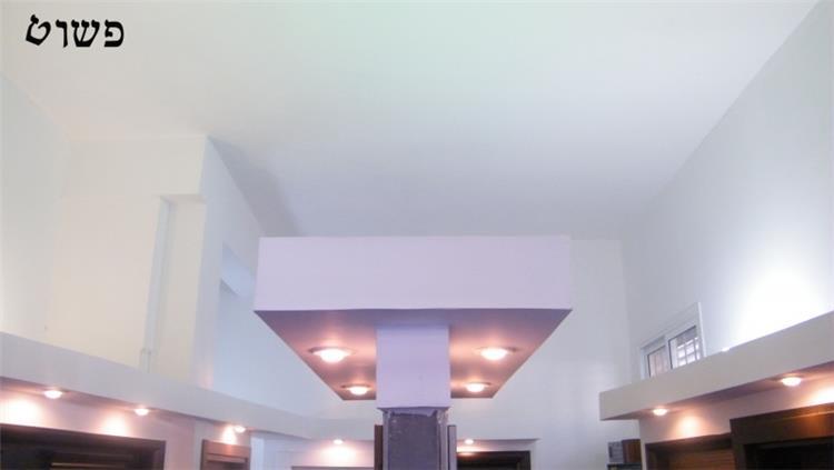 """הנמכות התקרה """"כתר"""" הדלת החופשייה והתאורה"""