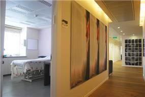 עיצוב פנים כניסה לחדרי טיפולים כללית אסתטיקה, רמת-אביב