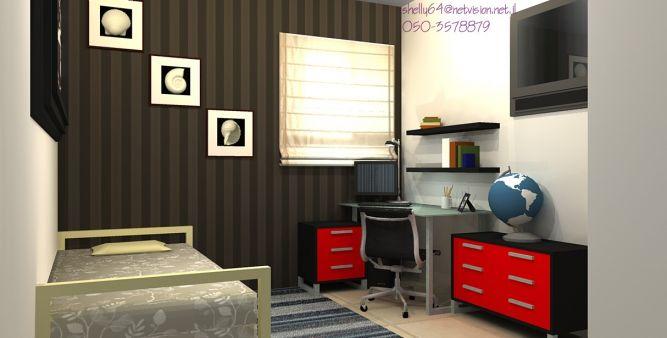 """ממ""""ד המשמש כחדר עבודה וחדר אורחים"""