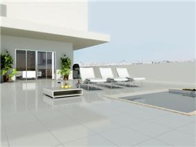 תכנון ועיצוב STUDIO MODA גג פנטהאוז -Y-TOWER