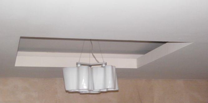 פרט גבס בתקרה כולל גוף תאורה  -  MS