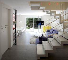 מבט ממבואת כניסה לסלון, עיצוב דלית ונגרובסקי