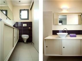 חדר שירותים בעיצוב דלית ונגרובסקי עיצוב פנים וסטיילינג