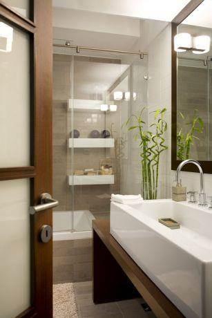 חדר אמבטיה מעוצב בסגנון מודרני בית בהר רדר