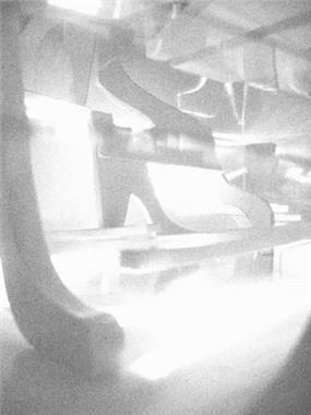 הדמייה במודל של חנות נעלים בהשראת מועדון לילה