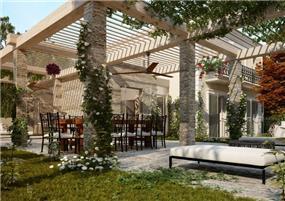 חצר מעוצבת ,וויט אדריכלים