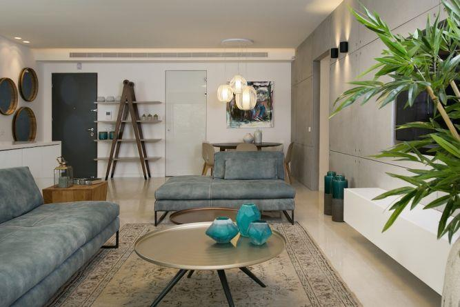חדר אורחים מעוצב, אורית כוכבי תכנון ועיצוב פנים