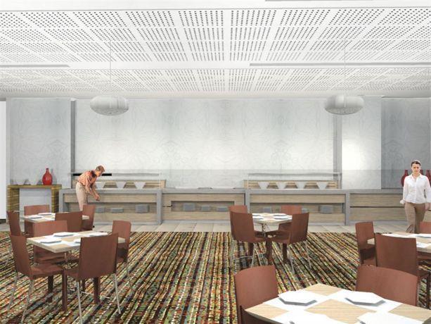 חדר אוכל מלונות דן - הדמיה
