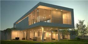 חזית בית פרטי על עמודים בתכנון אדריכל יואב אנדרמן
